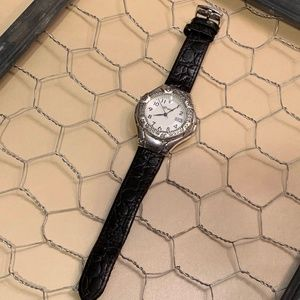 Brighton Lincoln Black Leather Watch 37mm